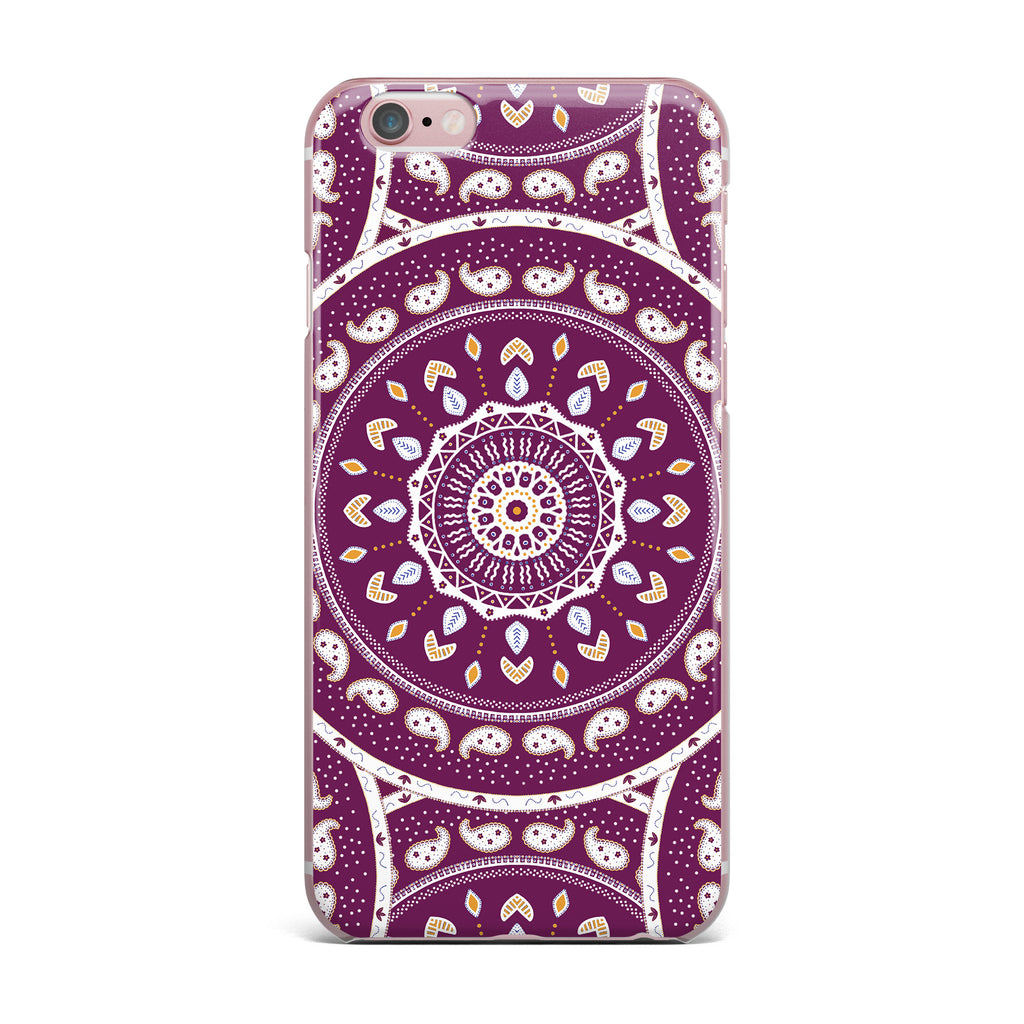 "Cristina bianco Design ""Mandala Design"" Purple Abstract iPhone Case - KESS InHouse"