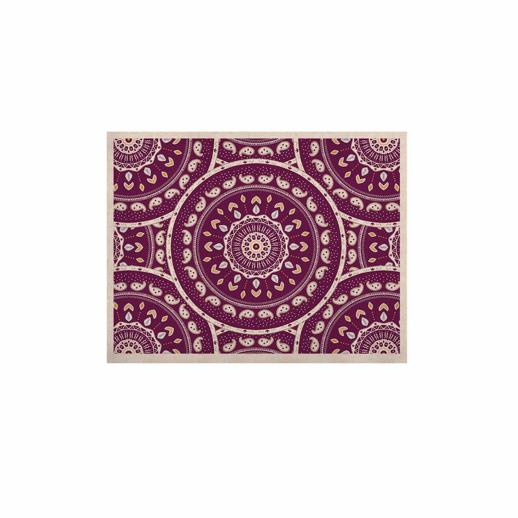 "Cristina bianco Design ""Mandala Design"" Purple Abstract KESS Naturals Canvas (Frame not Included) - KESS InHouse  - 1"