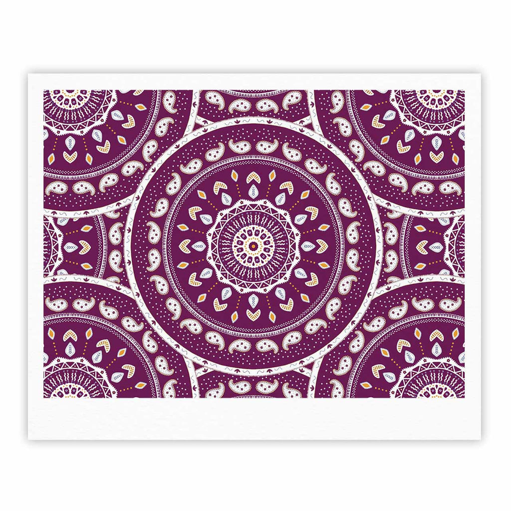 "Cristina bianco Design ""Mandala Design"" Purple Abstract Fine Art Gallery Print - KESS InHouse"