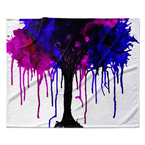 "Claire Day ""Weeping Willow""  Fleece Throw Blanket"