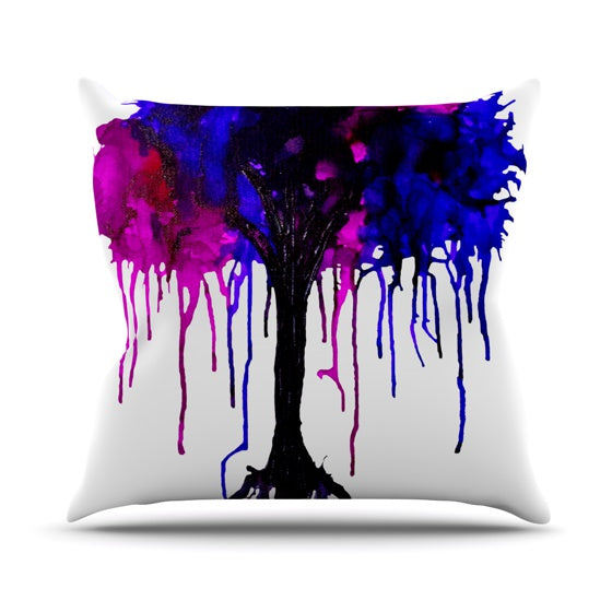 "Claire Day ""Weeping Willow"" Throw Pillow - KESS InHouse  - 1"