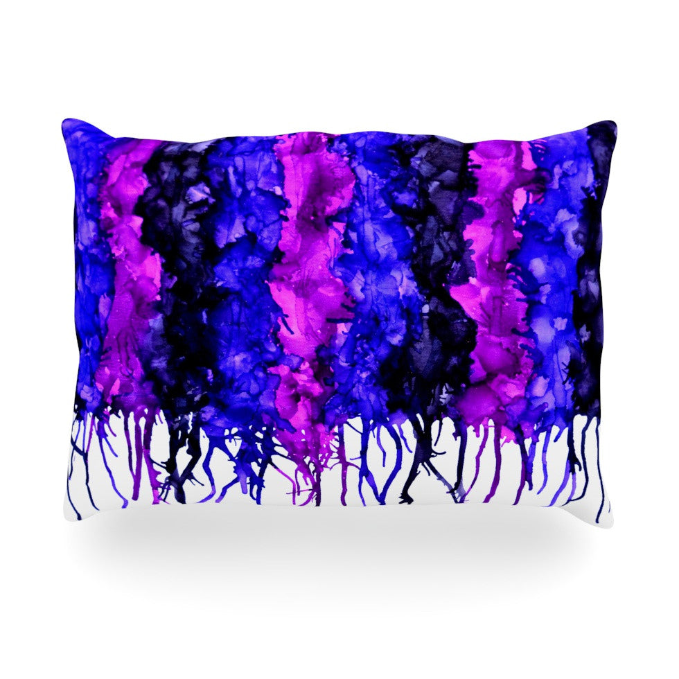 "Claire Day ""Drops"" Purple Oblong Pillow - KESS InHouse"