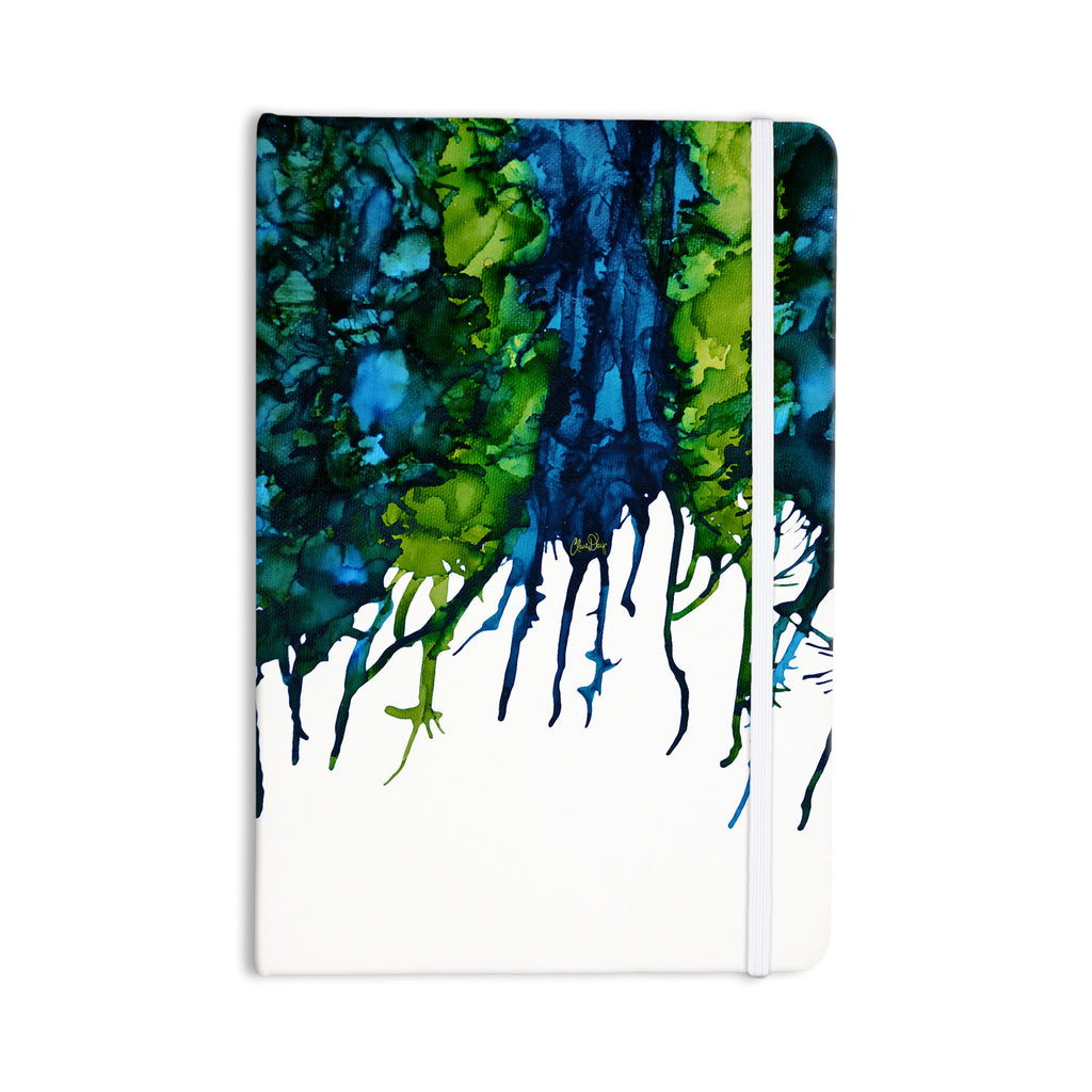"Claire Day ""Drops"" Green Everything Notebook - KESS InHouse  - 1"