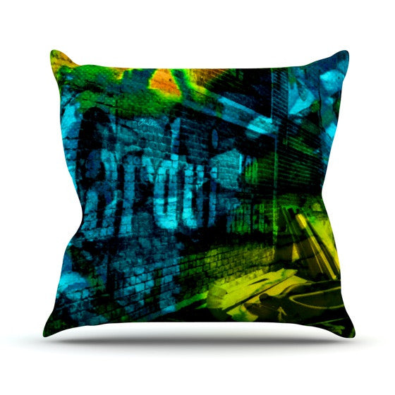 "Claire Day ""Radford"" Outdoor Throw Pillow - KESS InHouse  - 1"