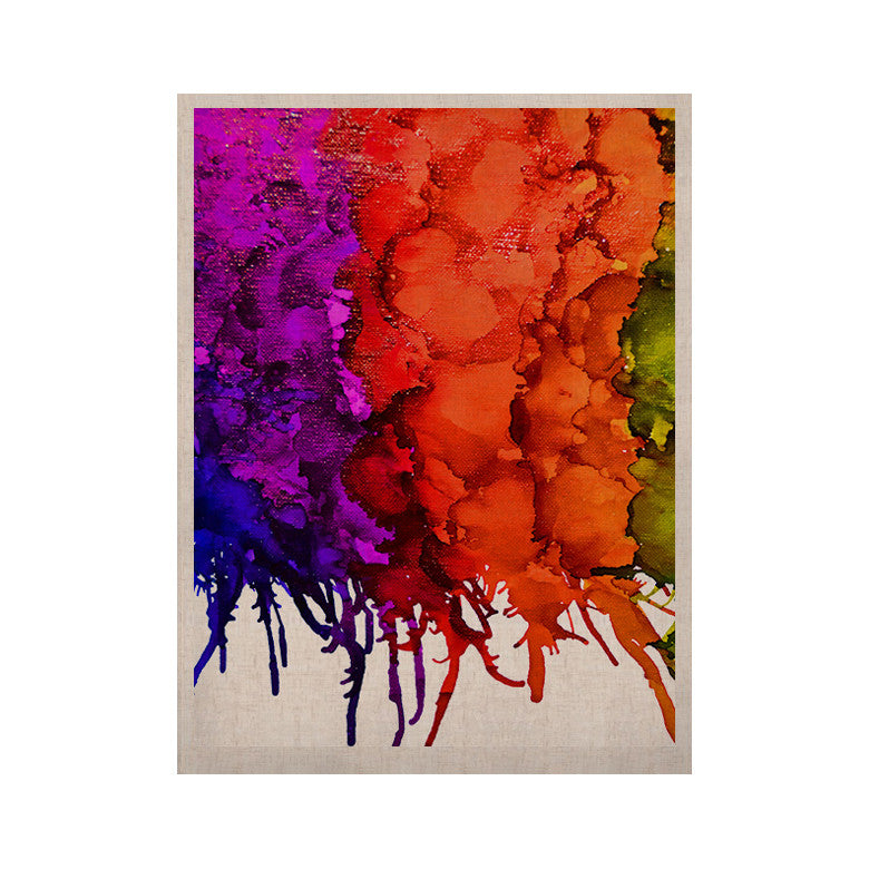 "Claire Day ""Rainbow Splatter"" KESS Naturals Canvas (Frame not Included) - KESS InHouse"