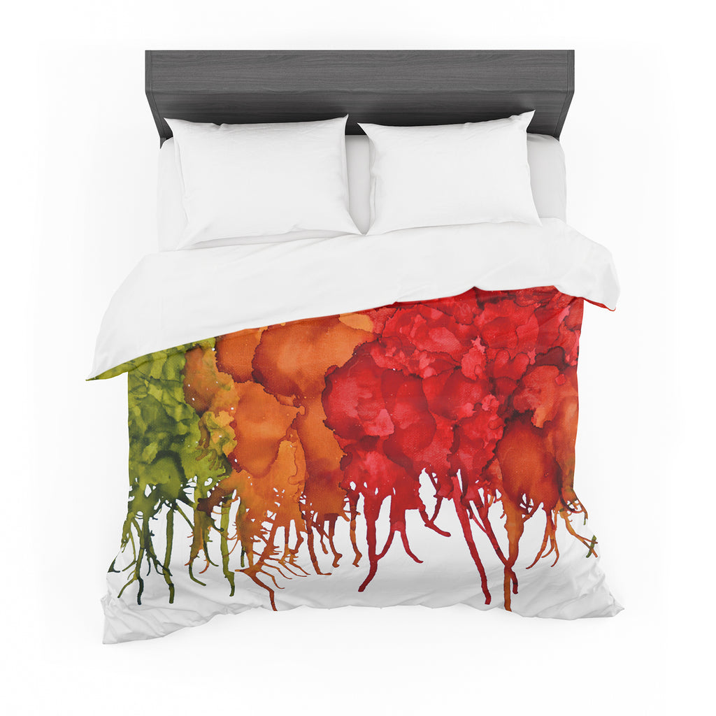"Claire Day ""Fall Splatter"" Cotton Duvet"
