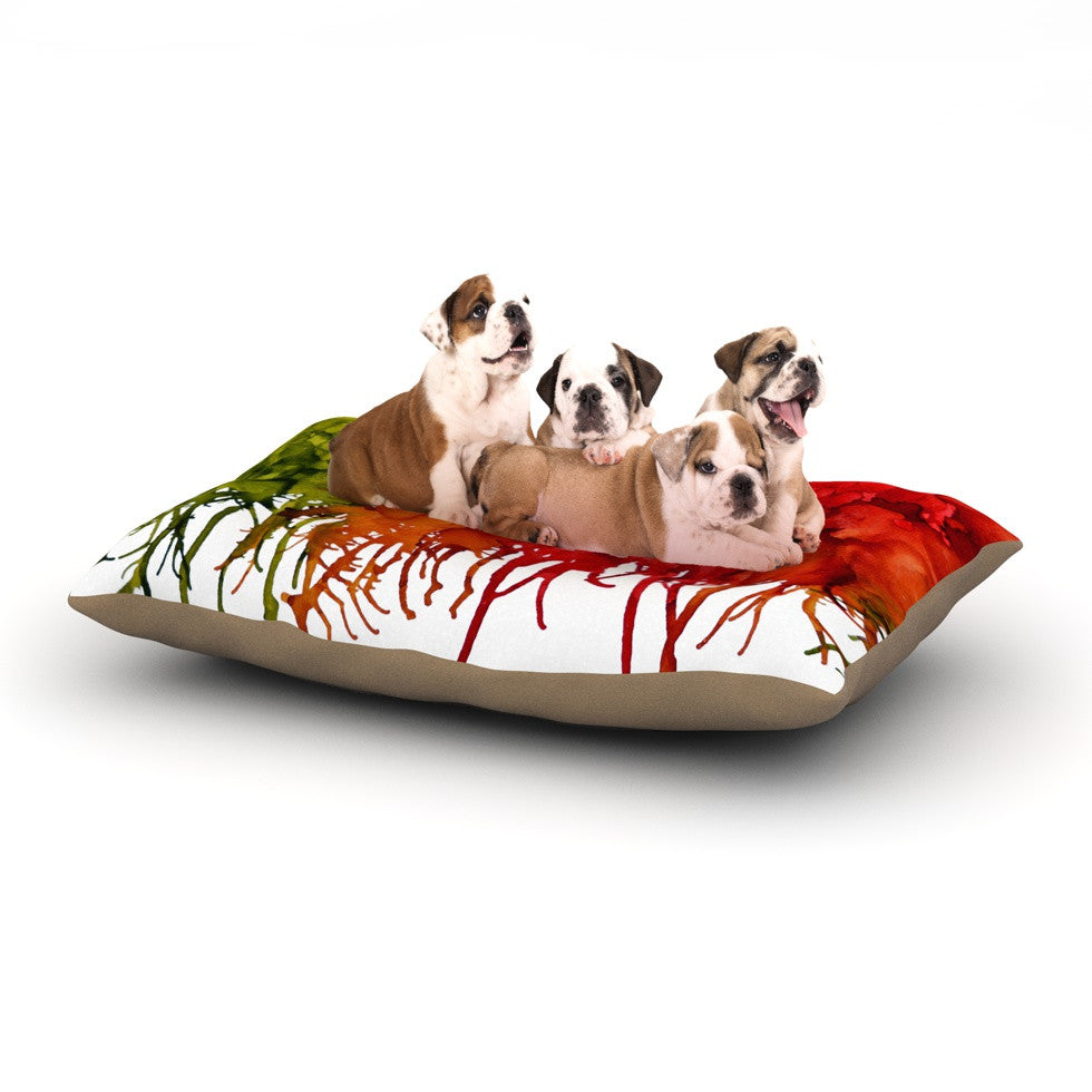 "Claire Day ""Fall Splatter"" Dog Bed - KESS InHouse  - 1"