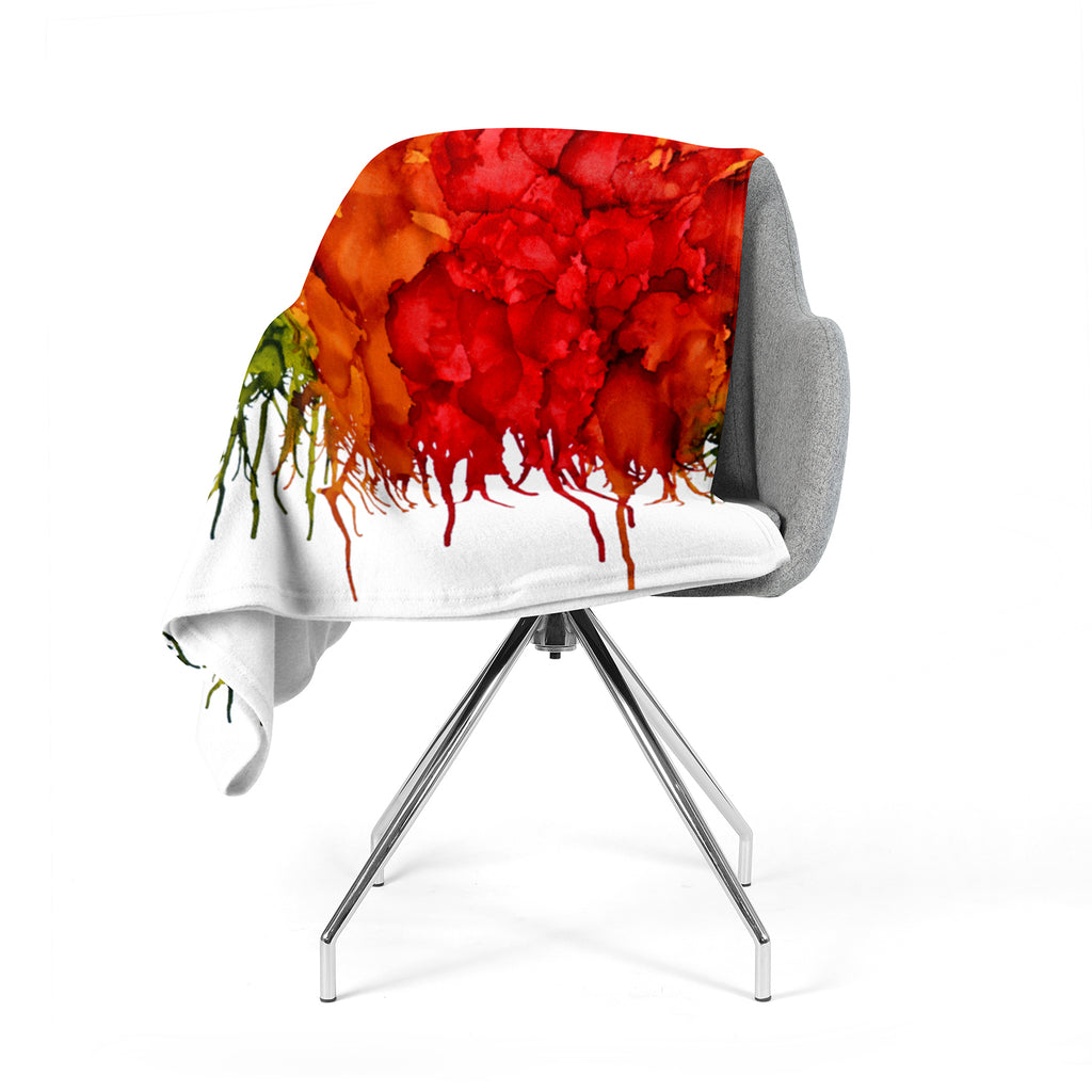 "Claire Day ""Fall Splatter"" Fleece Throw Blanket"