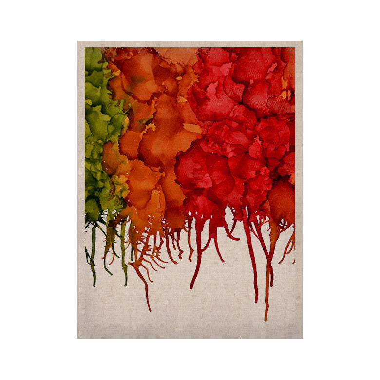 "Claire Day ""Fall Splatter"" KESS Naturals Canvas (Frame not Included) - KESS InHouse  - 1"