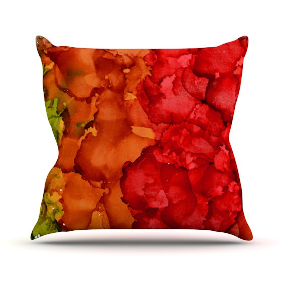 "Claire Day ""Fall Splatter"" Throw Pillow - KESS InHouse  - 1"