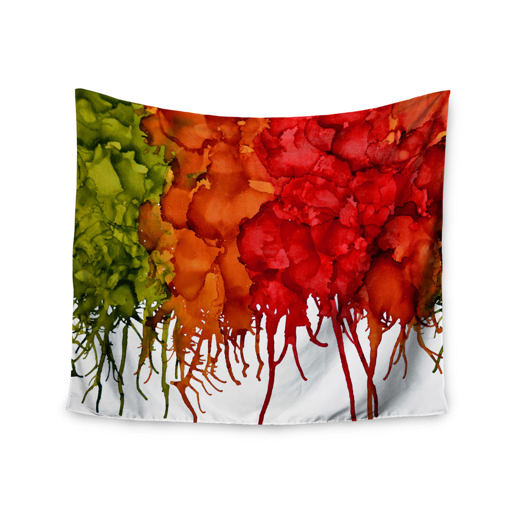 "Claire Day ""Fall Splatter"" Wall Tapestry - KESS InHouse  - 1"