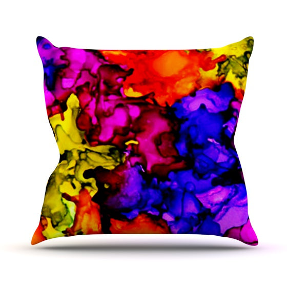 "Claire Day ""Chica"" Throw Pillow - KESS InHouse  - 1"
