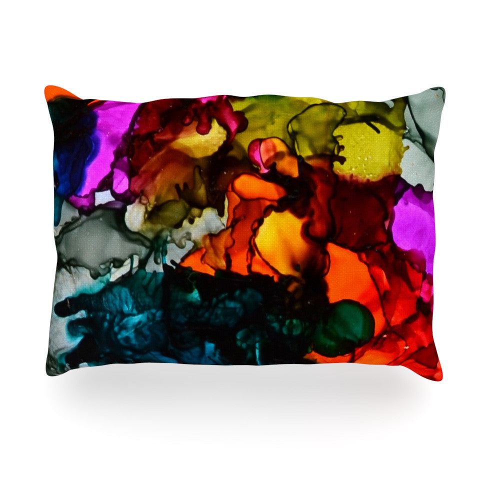 "Claire Day ""Hippie Love Child"" Oblong Pillow - KESS InHouse"