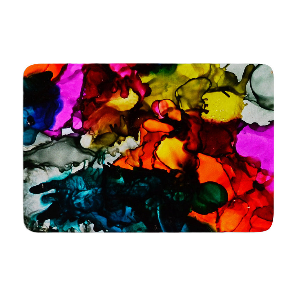 "Claire Day ""Hippie Love Child"" Memory Foam Bath Mat - KESS InHouse"