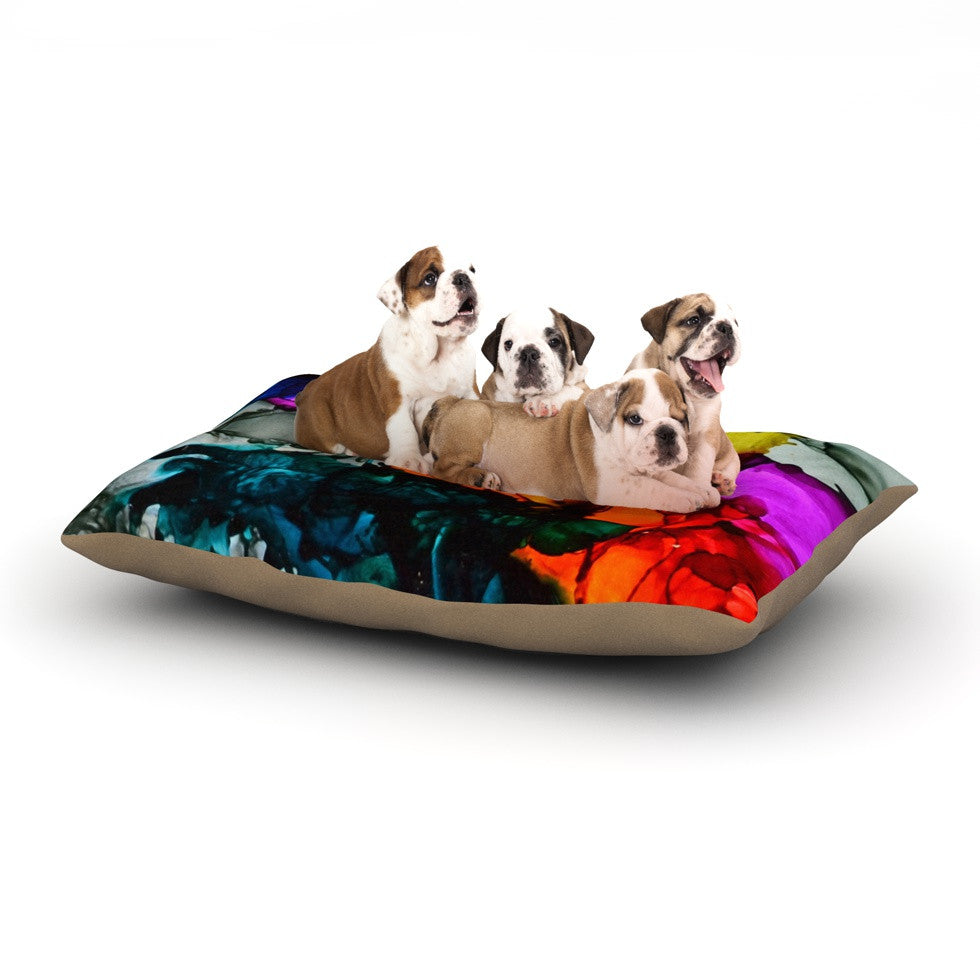 "Claire Day ""Hippie Love Child"" Dog Bed - KESS InHouse  - 1"