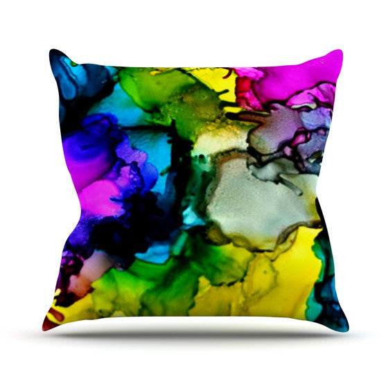 "Claire Day ""A Little Out There"" Outdoor Throw Pillow - KESS InHouse  - 1"