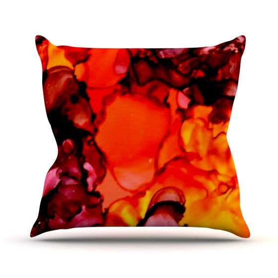 "Claire Day ""Mordor"" Throw Pillow - KESS InHouse  - 1"