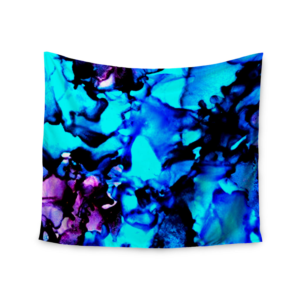 "Claire Day ""Peace Offering"" Blue Aqua Wall Tapestry - KESS InHouse  - 1"