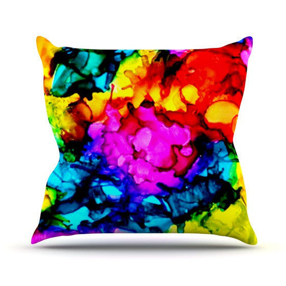 "Claire Day ""Sweet Sour"" Outdoor Throw Pillow - KESS InHouse  - 1"
