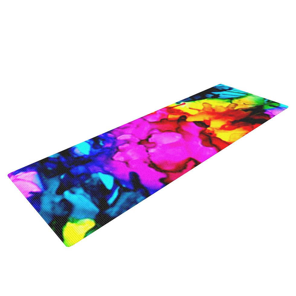 "Claire Day ""Sweet Sour"" Yoga Mat - KESS InHouse  - 1"