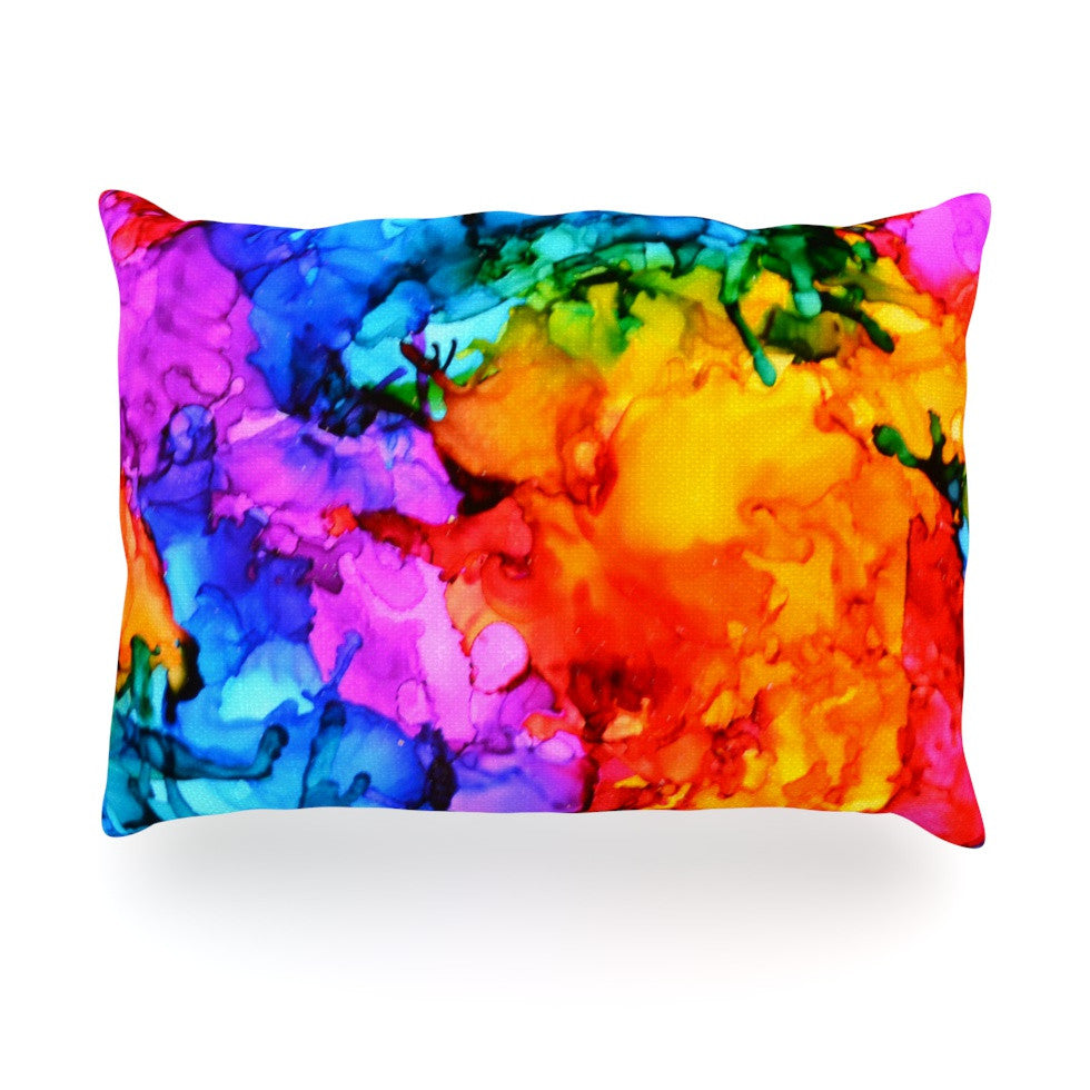 "Claire Day ""Sweet Sour II"" Oblong Pillow - KESS InHouse"