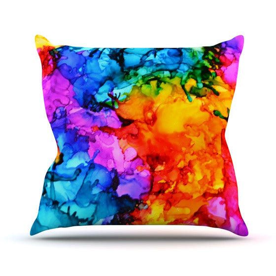 "Claire Day ""Sweet Sour II"" Outdoor Throw Pillow - KESS InHouse  - 1"