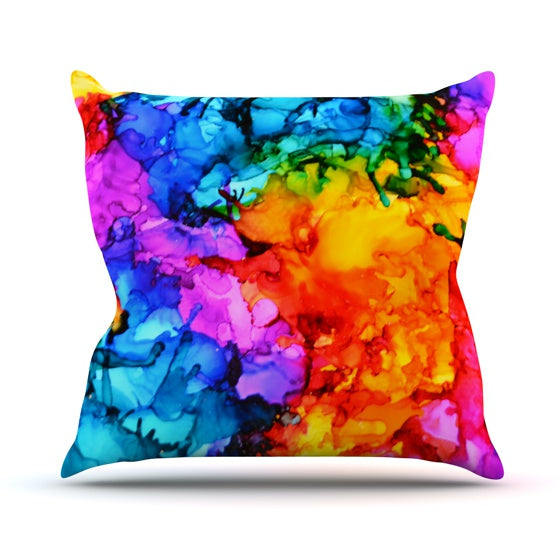 "Claire Day ""Sweet Sour II"" Throw Pillow - KESS InHouse  - 1"