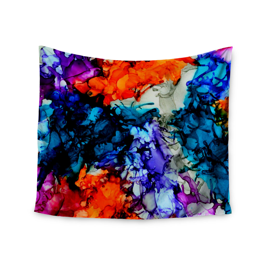 "Claire Day ""Evanescence"" Blue Rainbow Wall Tapestry - KESS InHouse  - 1"