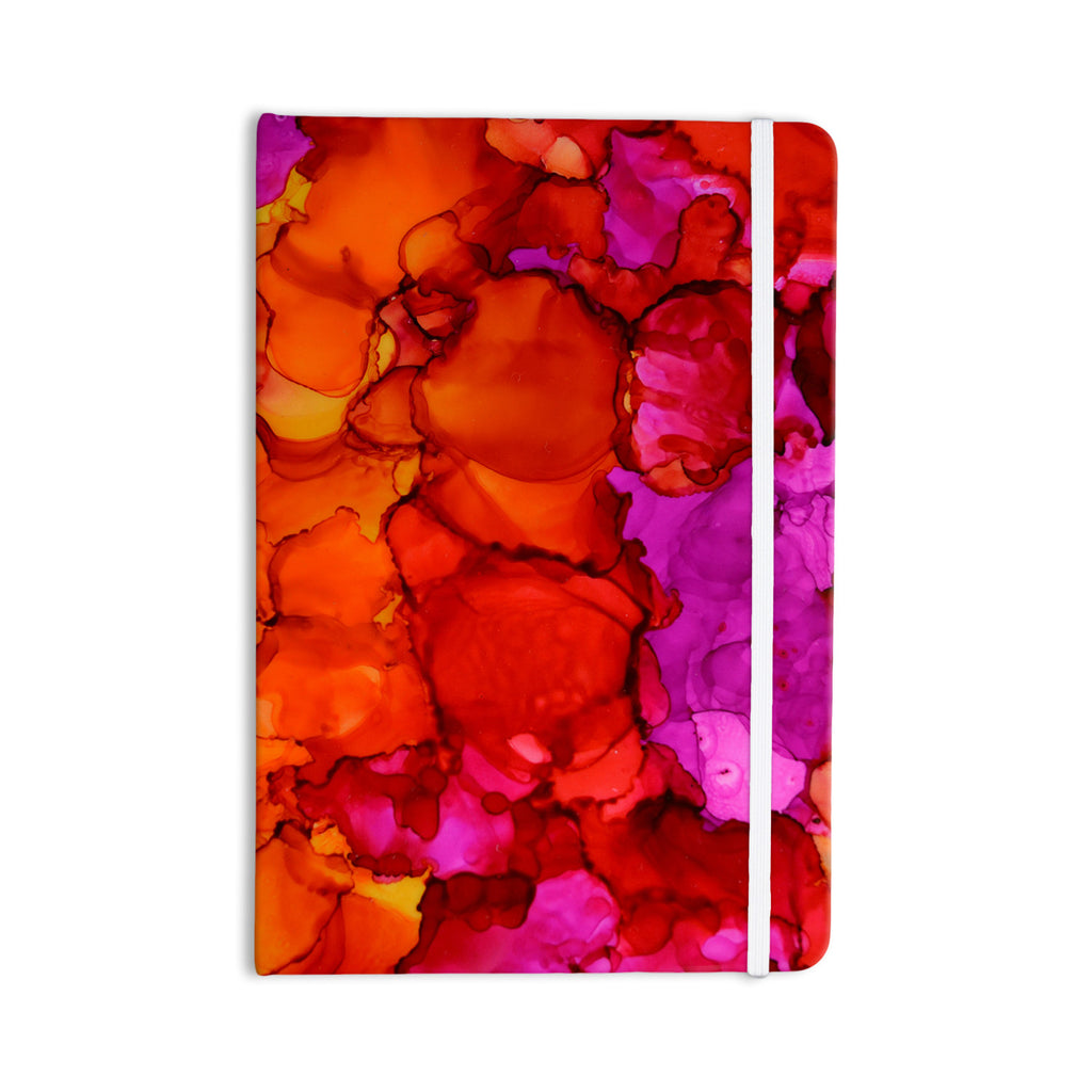 "Claire Day ""Fierce"" Pink Orange Everything Notebook - KESS InHouse  - 1"