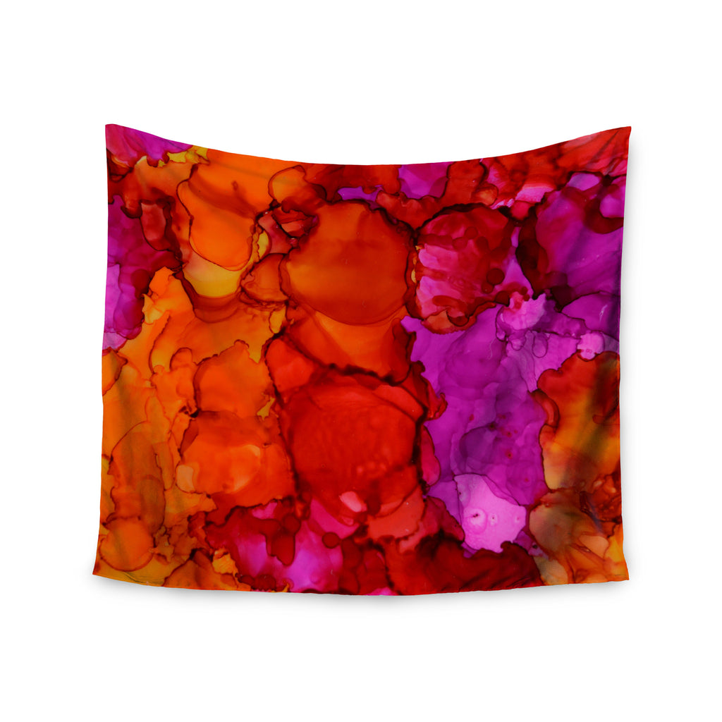 "Claire Day ""Fierce"" Pink Orange Wall Tapestry - KESS InHouse  - 1"