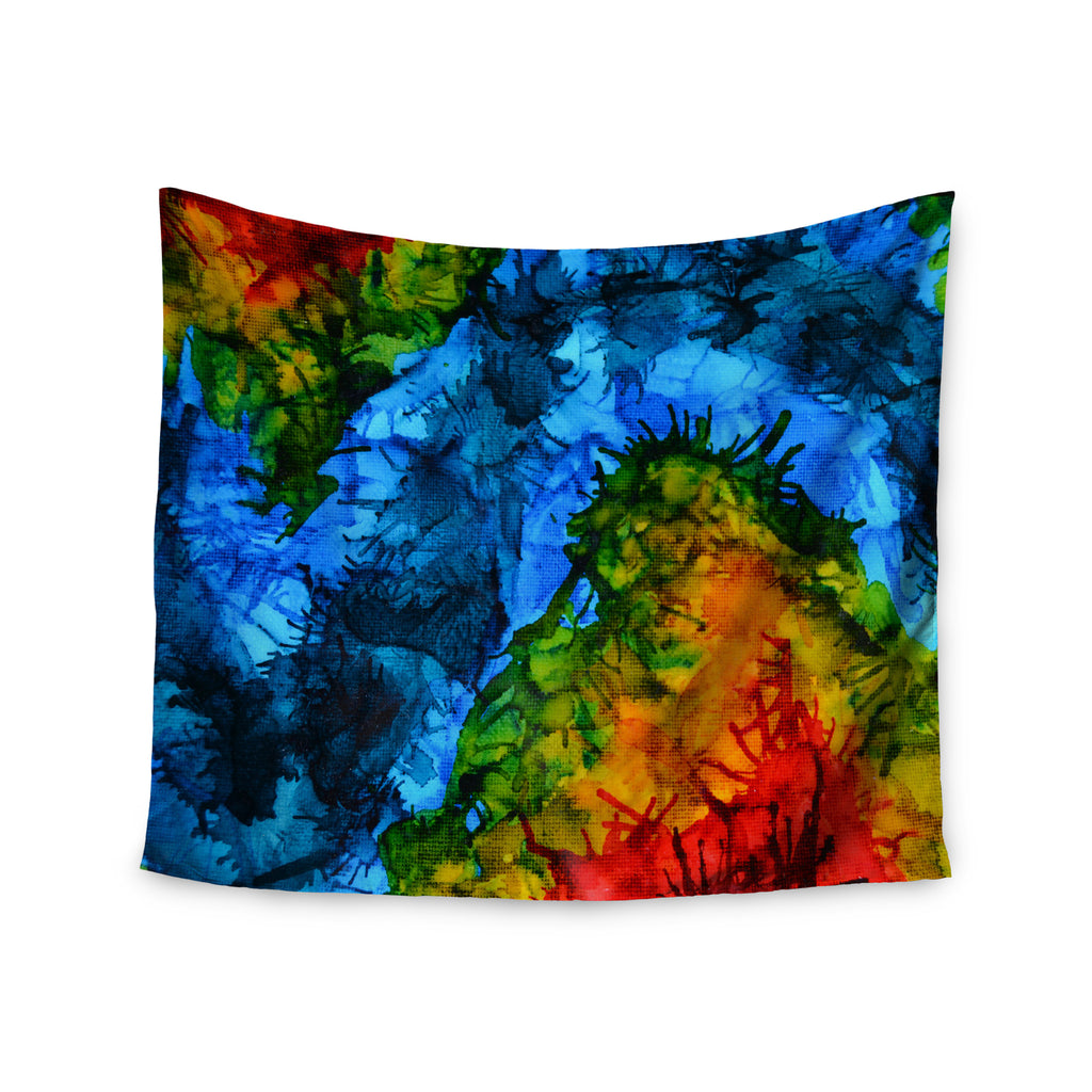 "Claire Day ""Flow"" Blue Green Wall Tapestry - KESS InHouse  - 1"