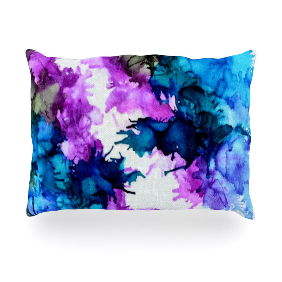 "Claire Day ""Utopia"" Blue Pink Oblong Pillow - KESS InHouse"