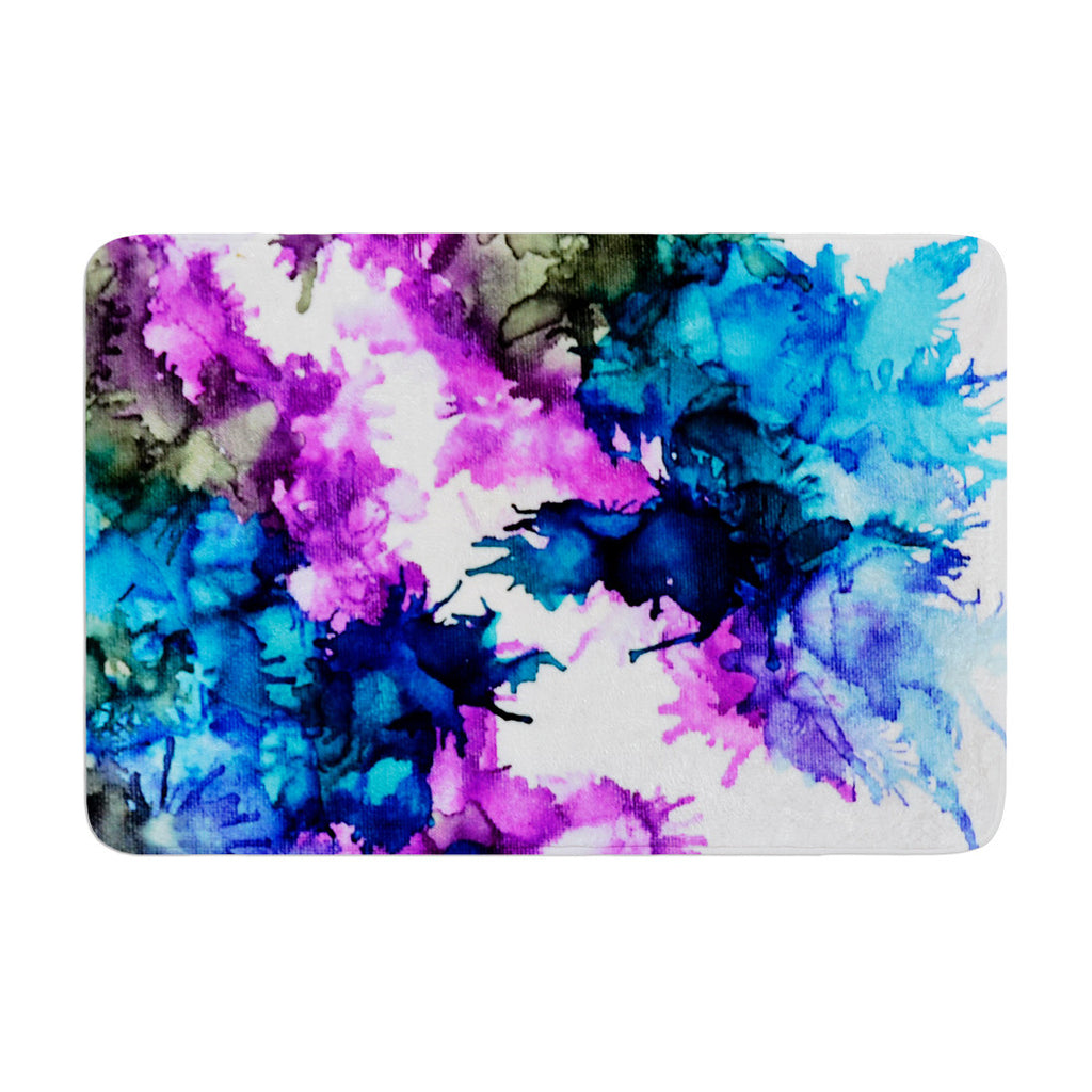 "Claire Day ""Utopia"" Blue Pink Memory Foam Bath Mat - KESS InHouse"