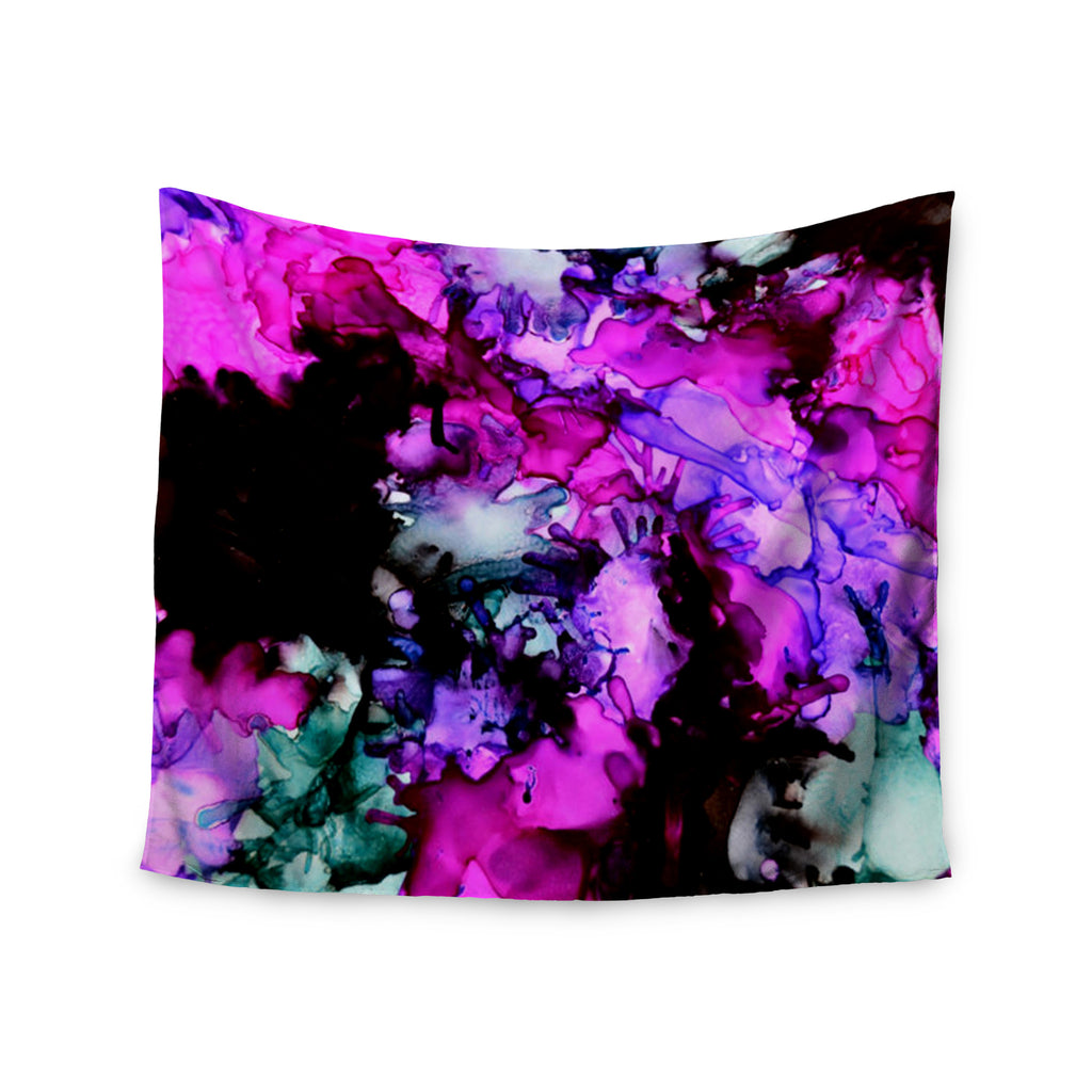 "Claire Day ""Siren"" Pink Purple Wall Tapestry - KESS InHouse  - 1"