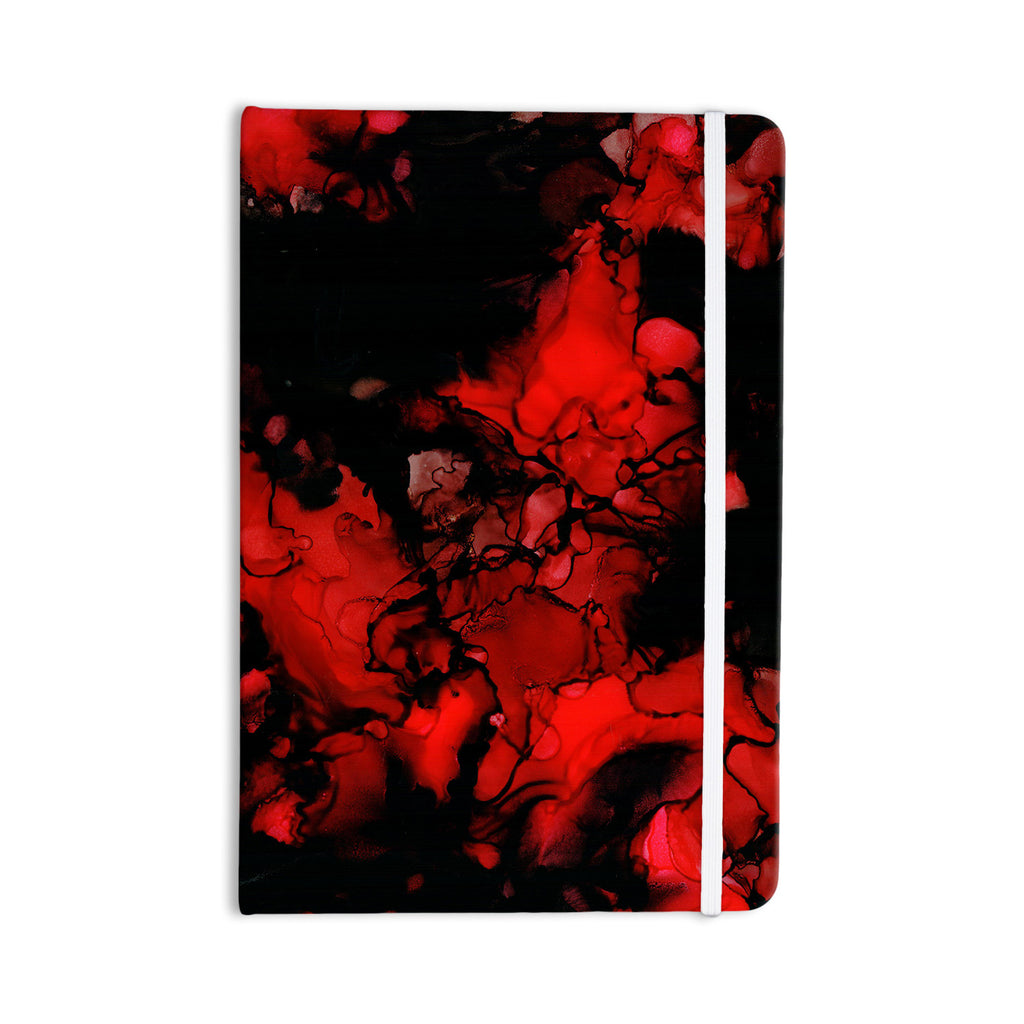 "Claire Day ""Vesuvius"" Red Dark Everything Notebook - KESS InHouse  - 1"