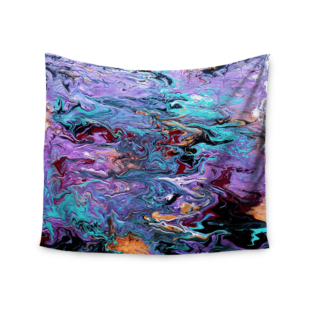"Claire Day ""Lola"" Purple Paint Wall Tapestry - KESS InHouse  - 1"