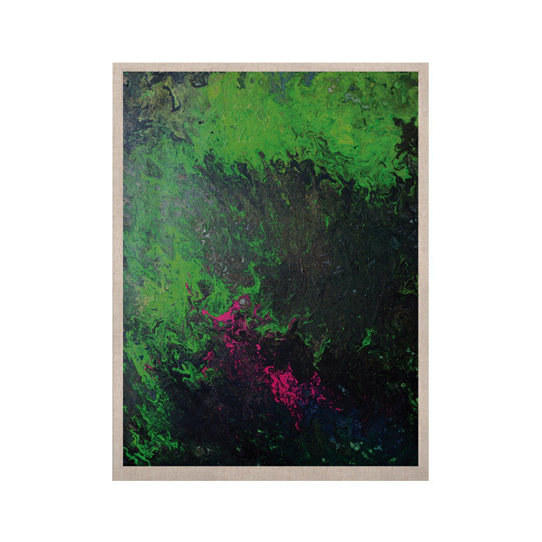 "Claire Day ""Acid Rain"" Green Black KESS Naturals Canvas (Frame not Included) - KESS InHouse  - 1"