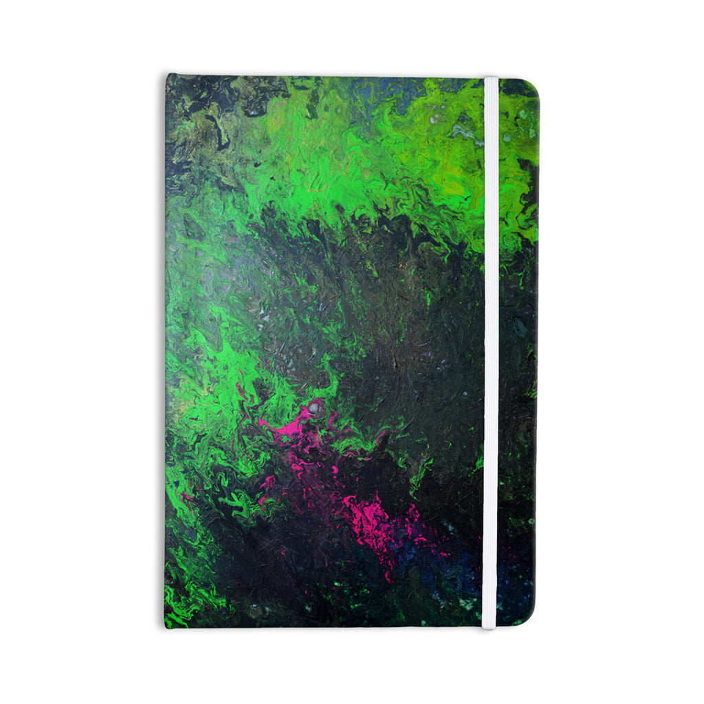 "Claire Day ""Acid Rain"" Green Black Everything Notebook - KESS InHouse  - 1"