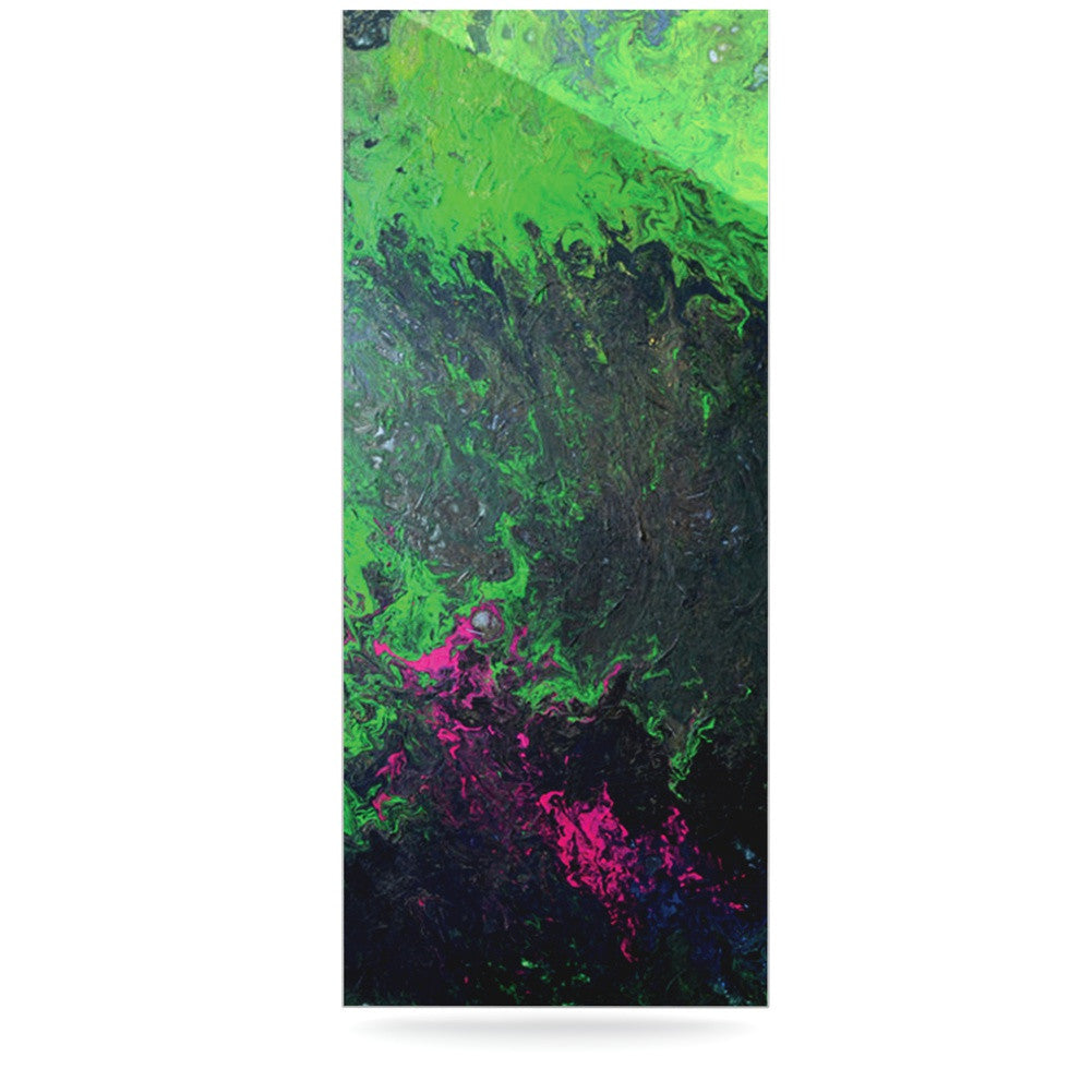 "Claire Day ""Acid Rain"" Green Black Luxe Rectangle Panel - KESS InHouse  - 1"