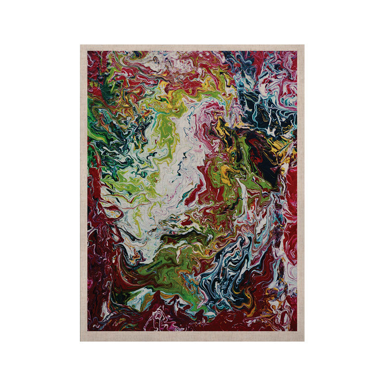 "Claire Day ""Chaos"" Red White KESS Naturals Canvas (Frame not Included) - KESS InHouse  - 1"