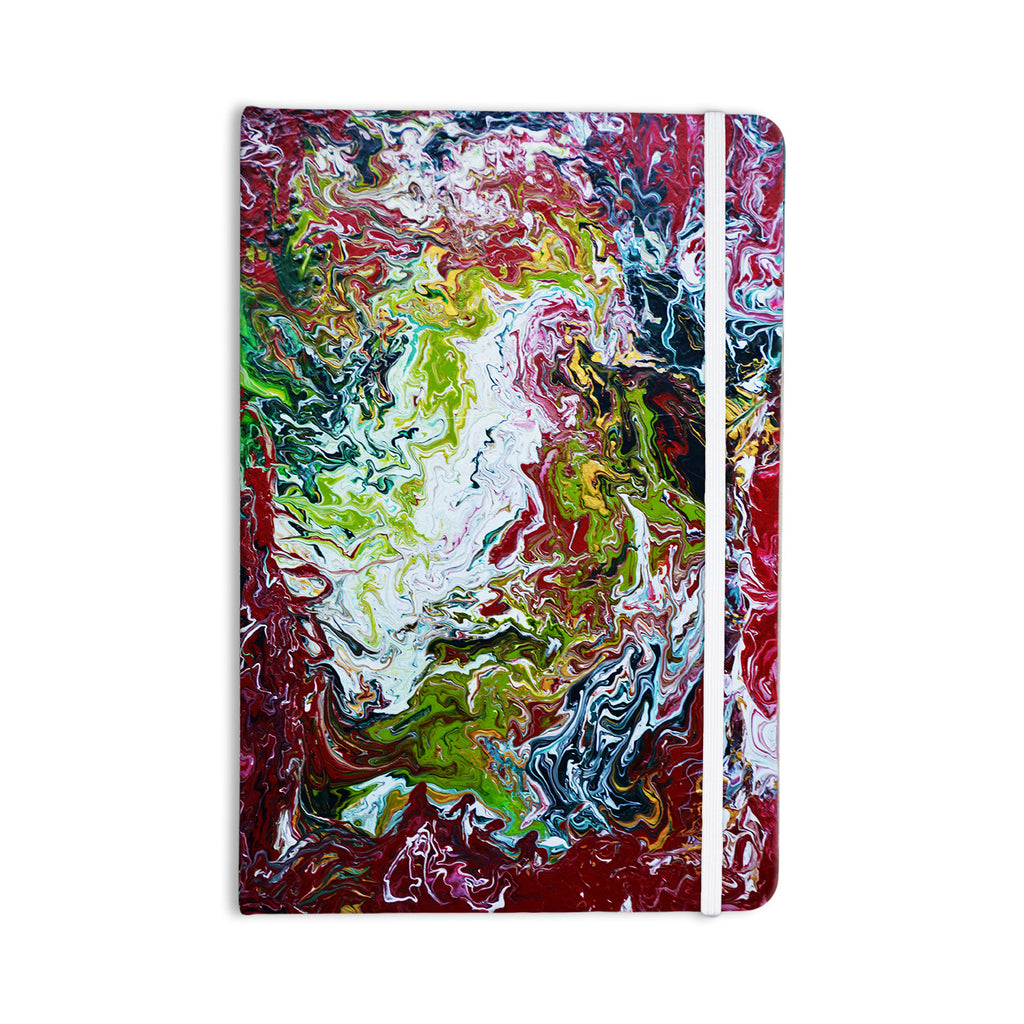 "Claire Day ""Chaos"" Red White Everything Notebook - KESS InHouse  - 1"