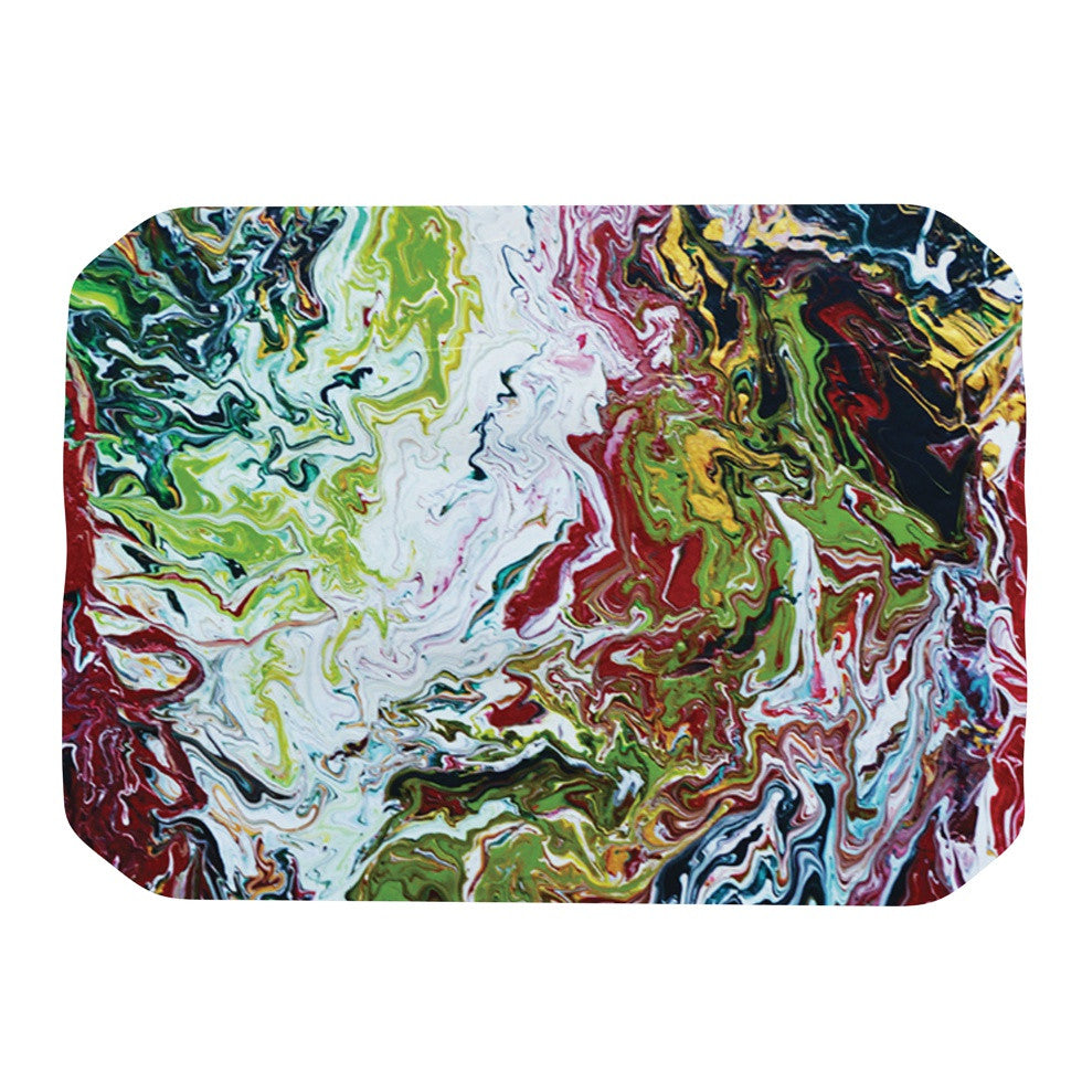 "Claire Day ""Chaos"" Red White Place Mat - KESS InHouse"