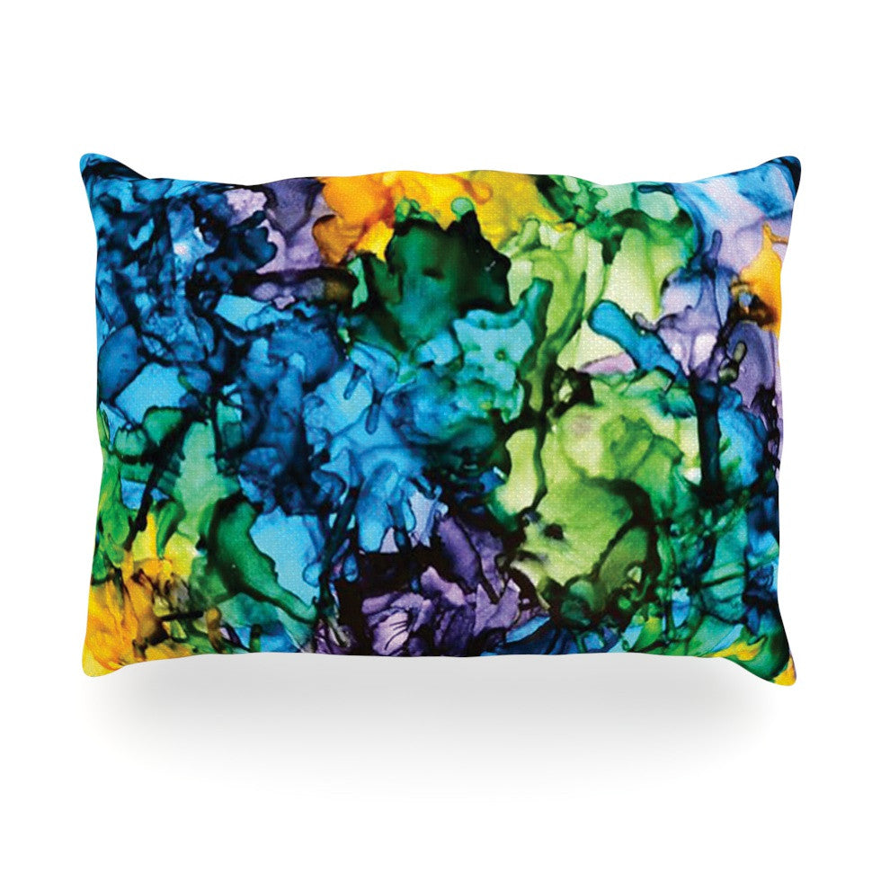 "Claire Day ""Gra Siorai"" Purple Blue Oblong Pillow - KESS InHouse"