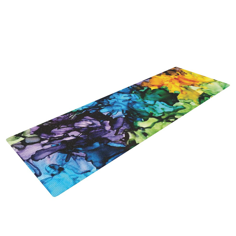 "Claire Day ""Gra Siorai"" Purple Blue Yoga Mat - KESS InHouse  - 1"