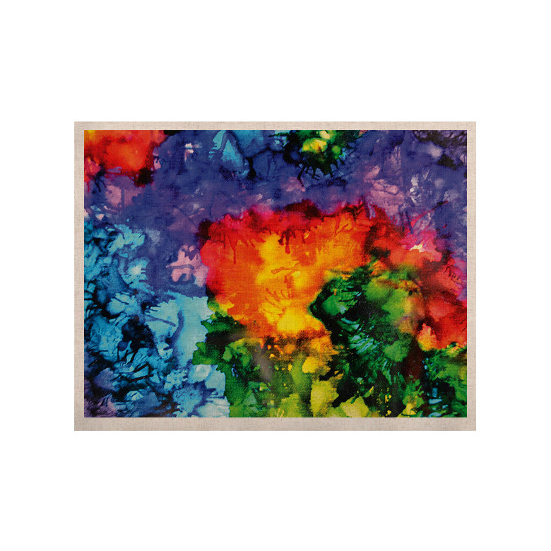 "Claire Day ""Karma"" Rainbow Paint KESS Naturals Canvas (Frame not Included) - KESS InHouse  - 1"