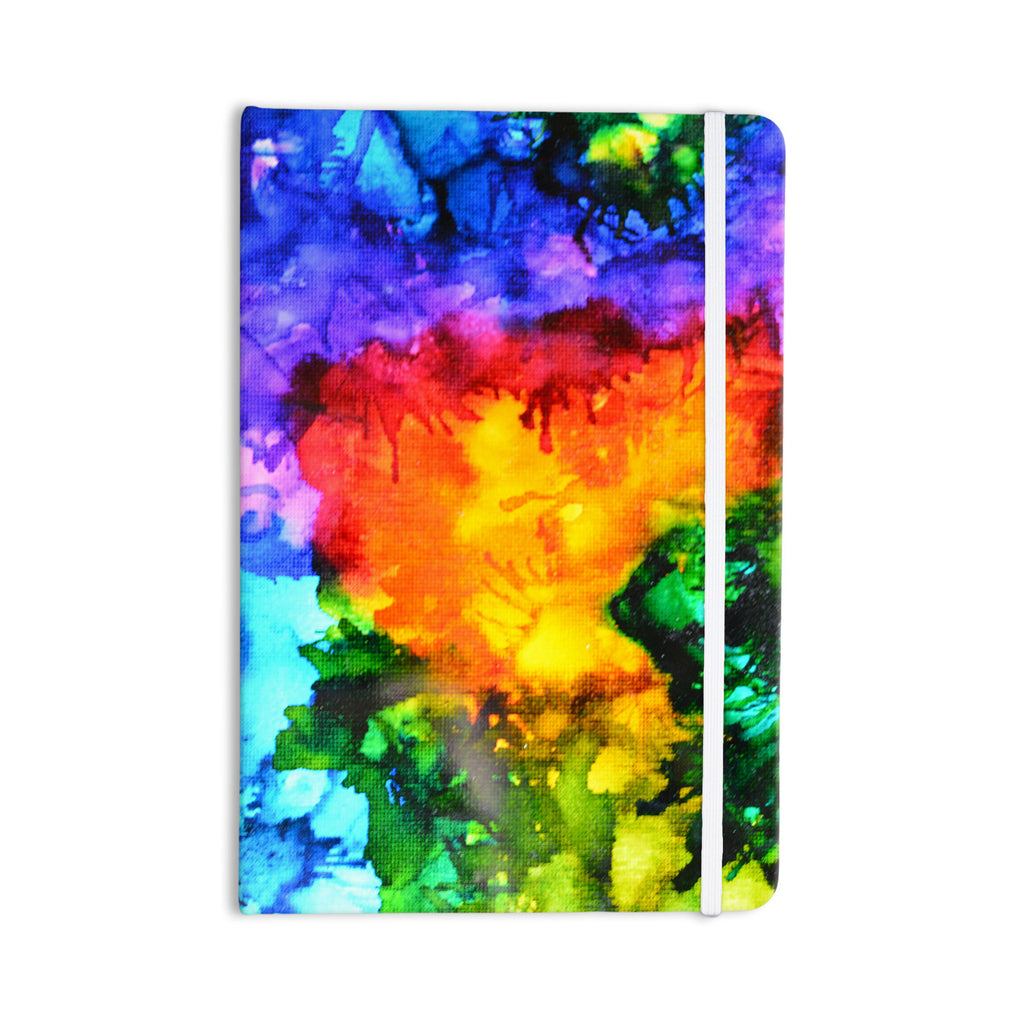 "Claire Day ""Karma"" Rainbow Paint Everything Notebook - KESS InHouse  - 1"