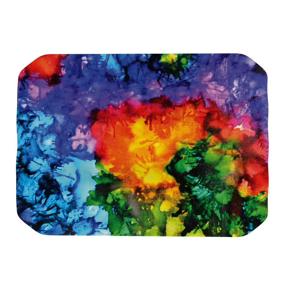 "Claire Day ""Karma"" Rainbow Paint Place Mat - KESS InHouse"