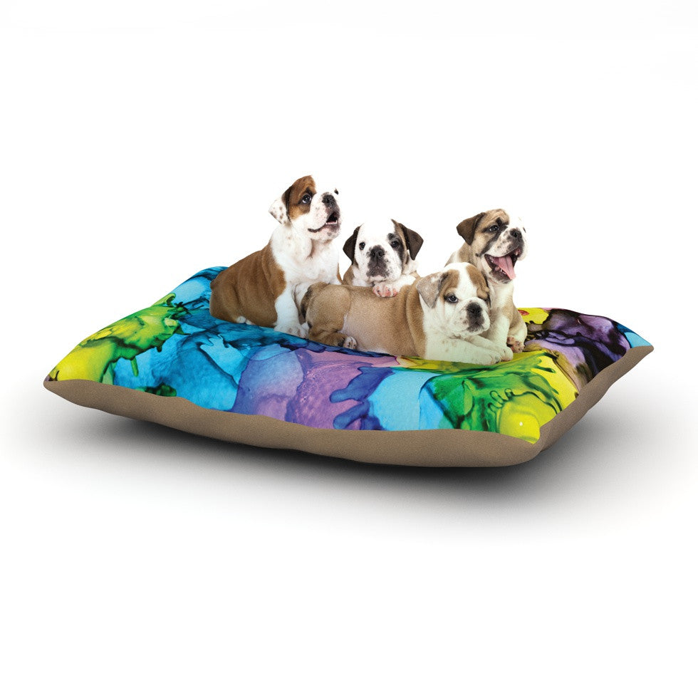 "Claire Day ""Mermaids"" Blue Paint Dog Bed - KESS InHouse  - 1"