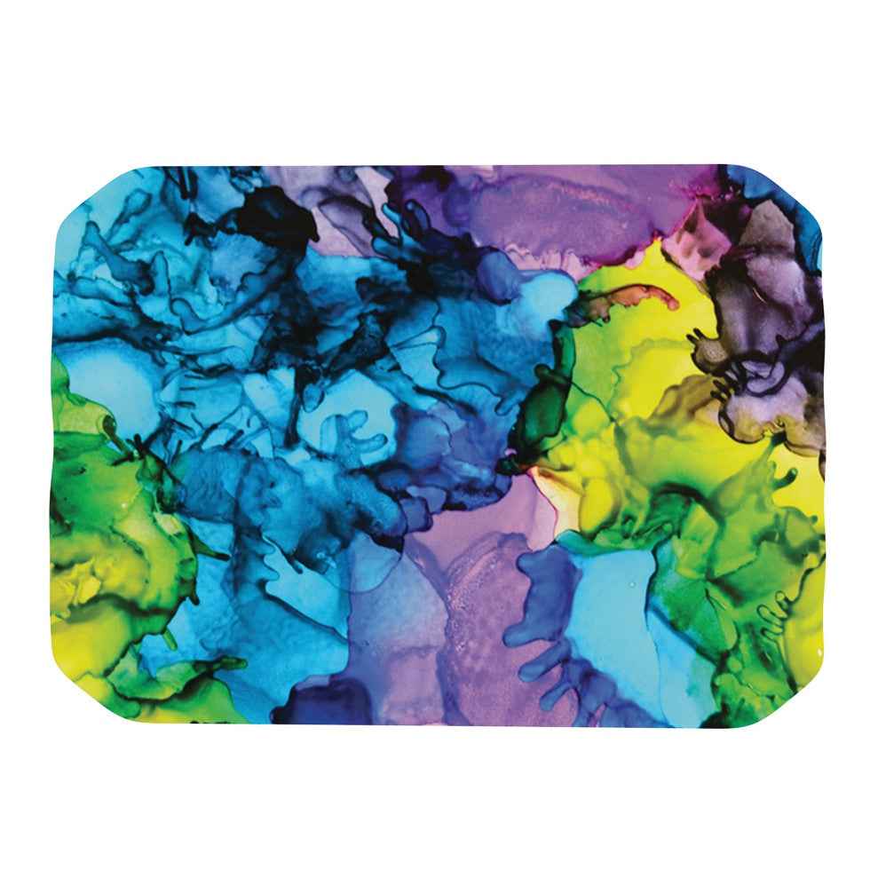 "Claire Day ""Mermaids"" Blue Paint Place Mat - KESS InHouse"