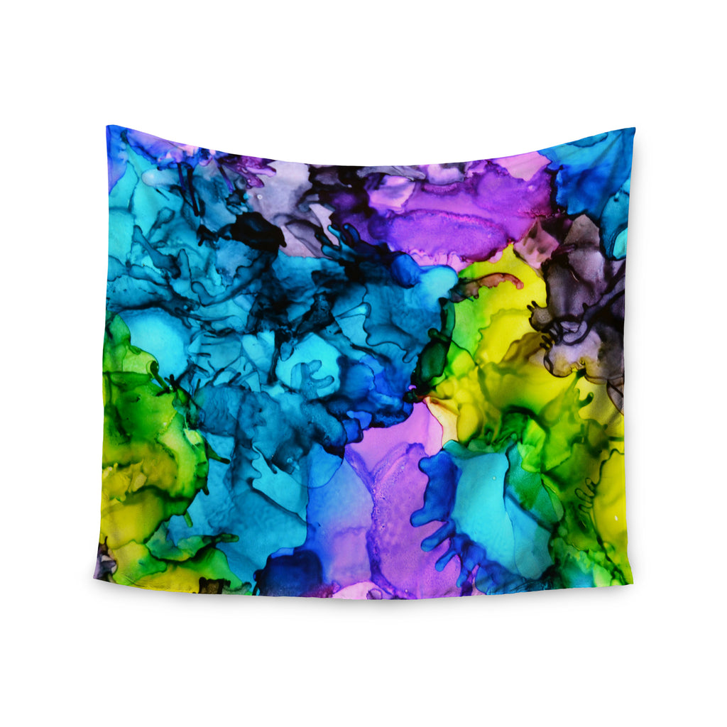 "Claire Day ""Mermaids"" Blue Paint Wall Tapestry - KESS InHouse  - 1"